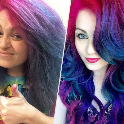 Hair Colorist Known for Rainbow Locks Reveals the Truth Behind Her Social Media Selfies