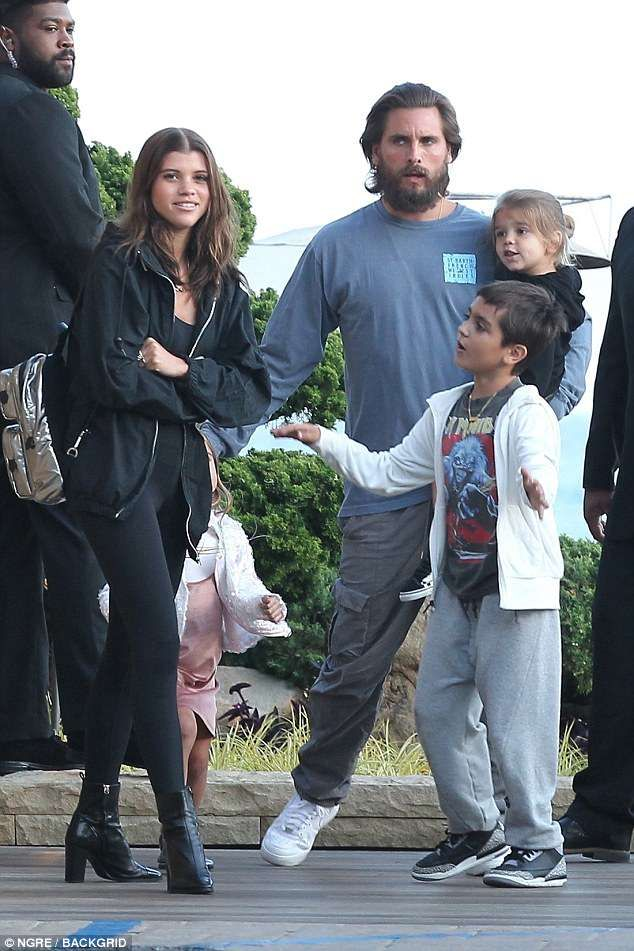 8d3f28d4e2d48 Back on  Scott Disick and Sofia Richie were back playing happy families on  Wednesday in Ma.