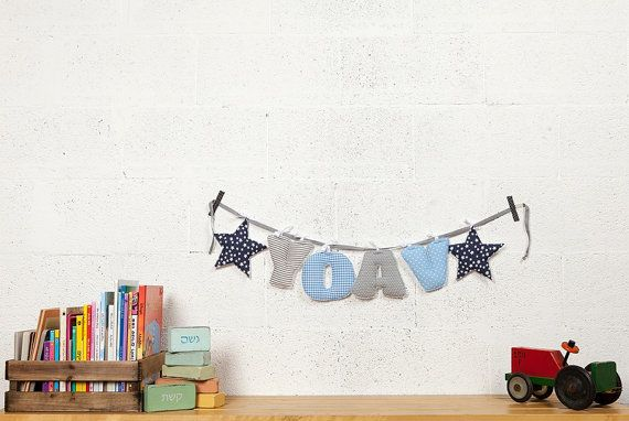Personalized baby gift, Name banner for nursery, Baby name garland, Baby room letters