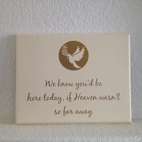 Memorial Plaque for Wedding or event. We know by Frameyourstory