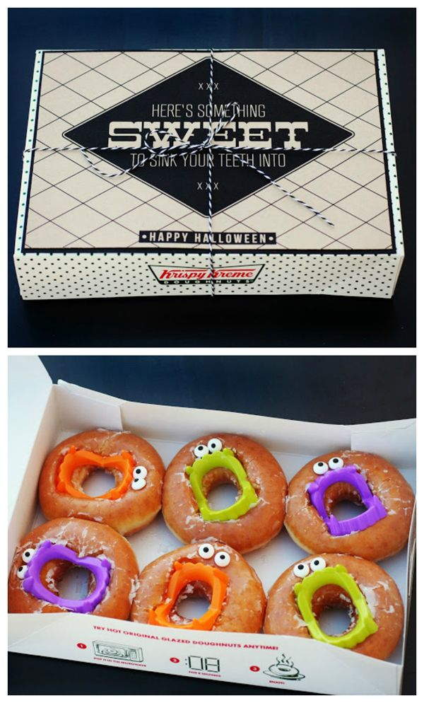 Halloween treats with a printable for the box. These would be so cute at a…