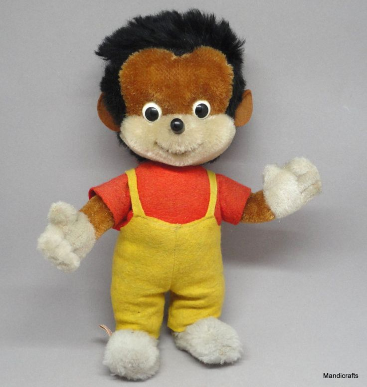 Schuco Stops #Hedgehog 9in Mohair Dralon Plush Doll Bigo Bello Fix Foxi Comic 60s #Schuco AllOccasion
