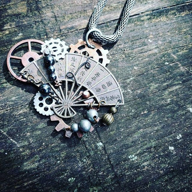 I love this one :) We recycle and re-purpose found items from all over the world into unique, one-of-a-kind jewelry and wearables. It's a Steampunk + adventure lifestyle! Papercranest.com