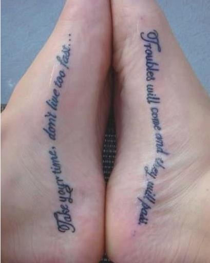 foot tattoo. super cute idea