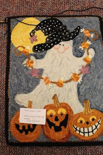 I think maybe the paisley rug belongs to Wanda? Mary from Boone hooked the Halloween rugs These two rugs were taken f...