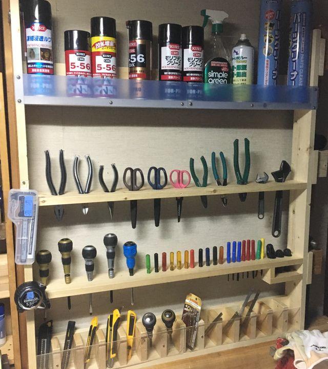DIY  工具壁面収納2