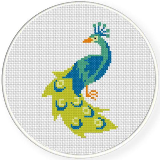 FREE Peacock Cross Stitch Pattern