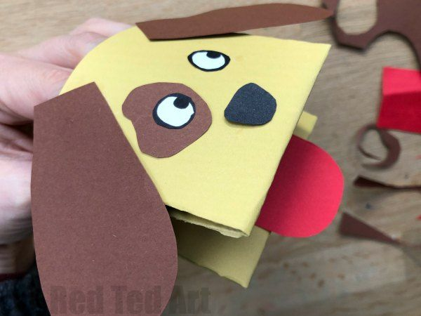 Paper Dog Hand Puppet Chinese New Year Crafts For Kids Chinese