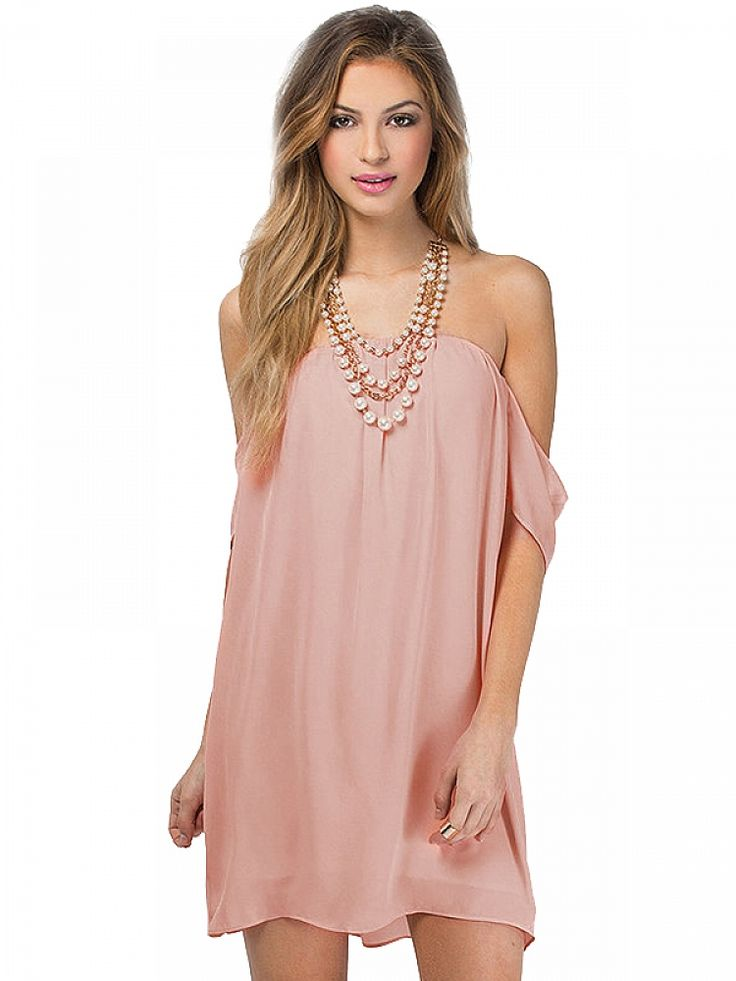 Strapless Backless Short Sleeves Chiffon Dress