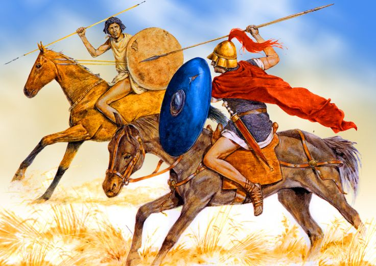 Numidian Horseman Battling Roman Equites