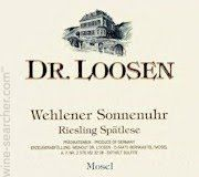 Dr. Loosen Wehlener Sonnenuhr Riesling Spatlese, Mosel, Germany label -- This is a delicious Riesling.