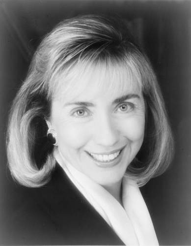 Hillary Rodham Clinton  Picture of First Lady Hillary Clinton, wife of President Bill Clinton