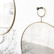Brass Loop Mirror in 2 Sizes by House Doctor DK