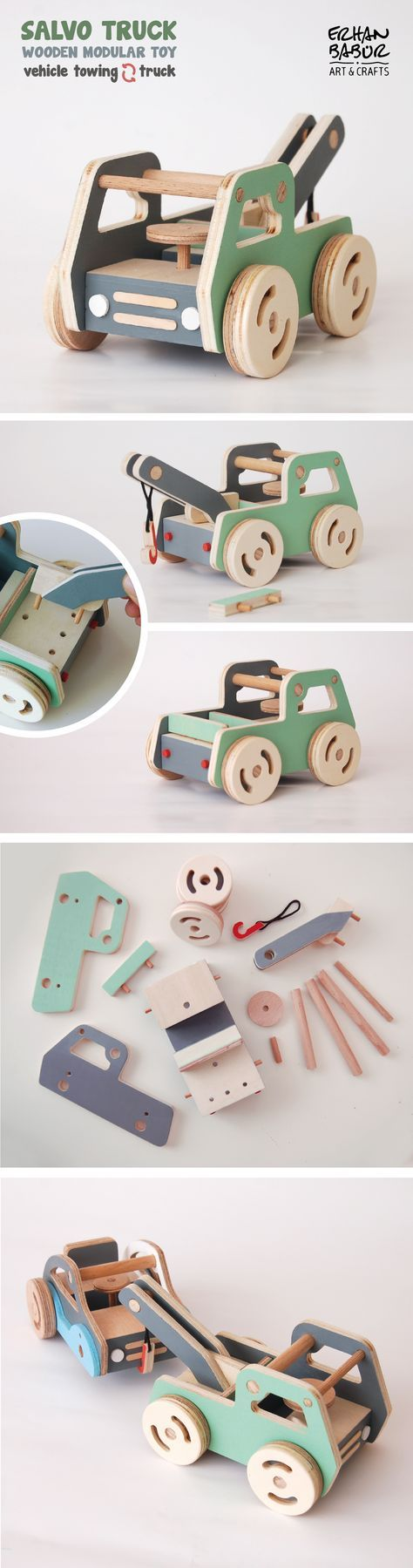 Salvo Truck Wooden modular toy