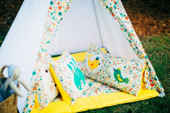 Kids Teepee Play Tent Childrens Teepee Teepee by KinderlyStore