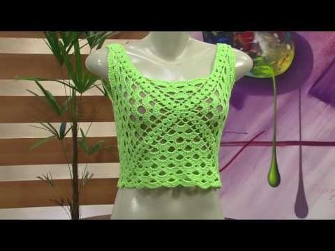 Mulher.com - 10/10/2016 - Cropped em crochê - Noemi Fonseca PT1 - YouTube