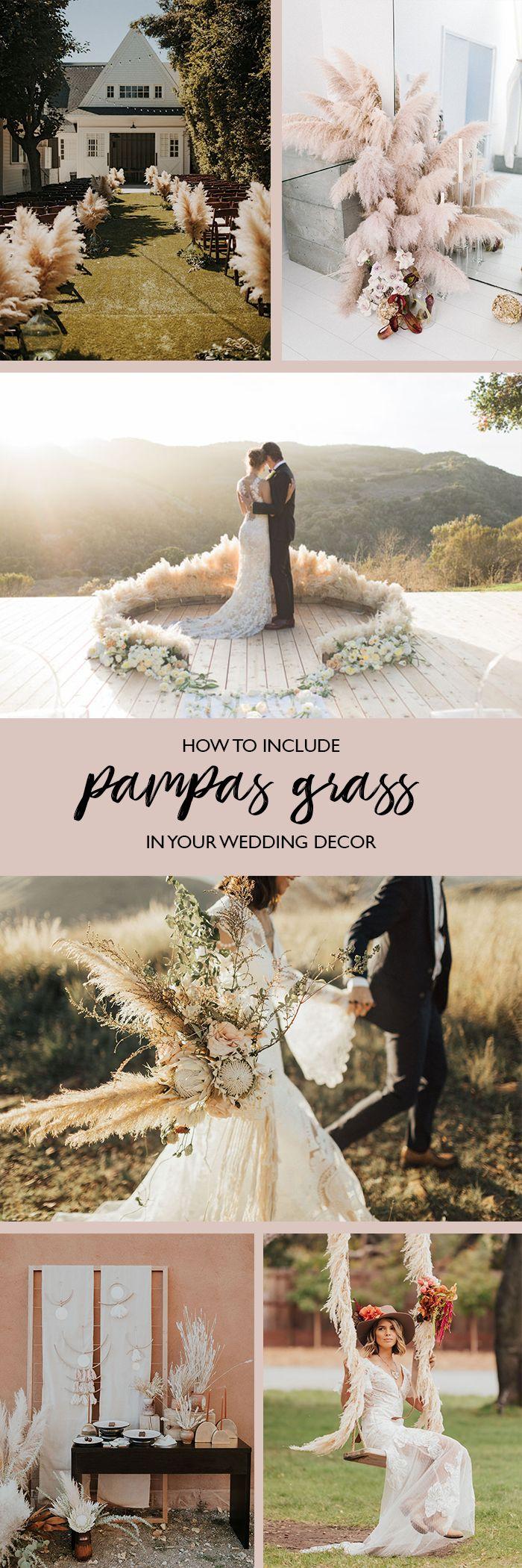 pampas grass in wedding decor
