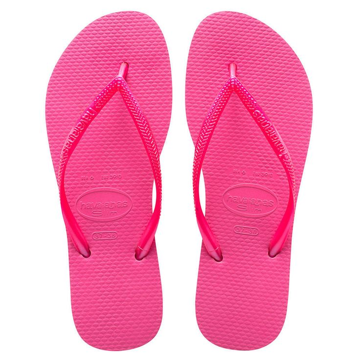Havaianas Slim Ladies Flipflops - Shocking Pink