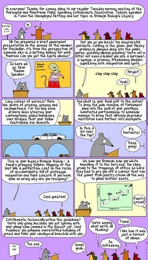 ReturnToPlanetBronwyn - First Dog on the Moon cartoon on Bronwyn Bishop resigning as speaker
