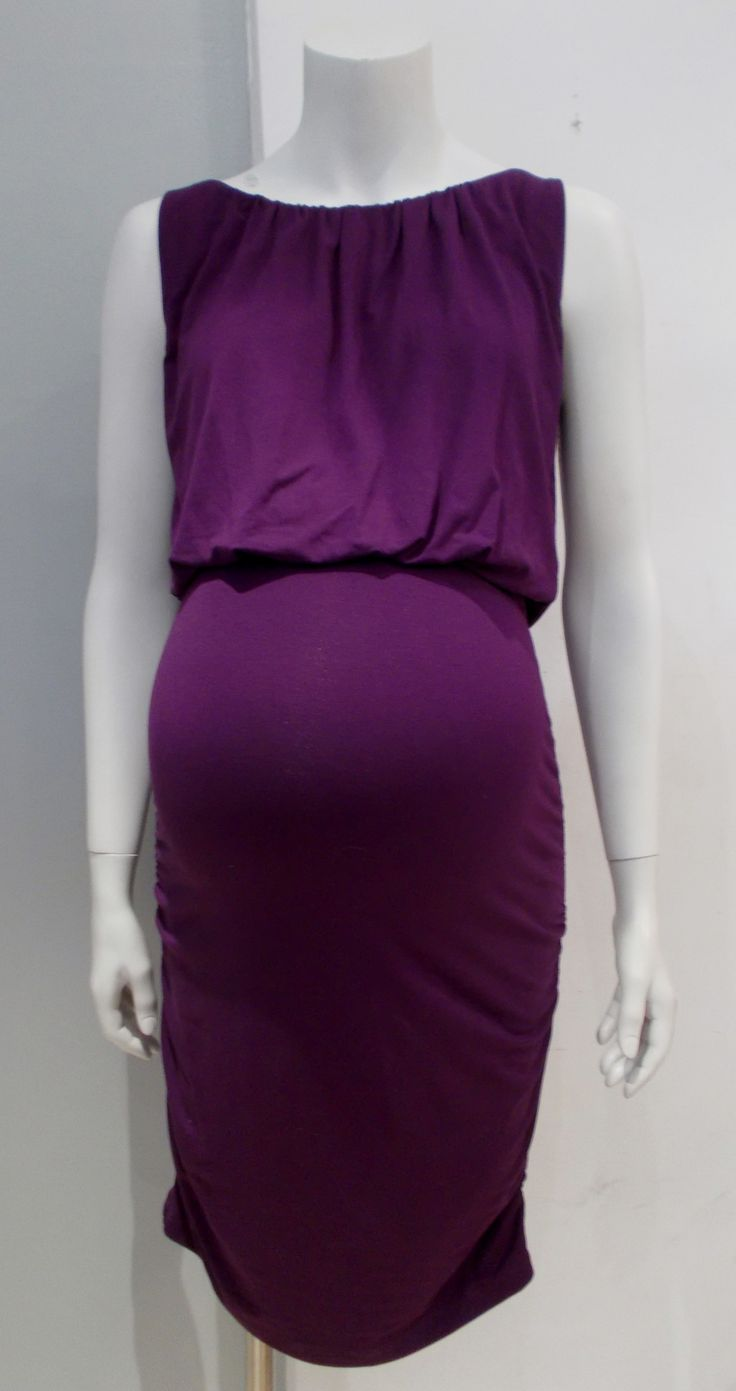 Thyme Maternity - Side Ruched Fitted Maternity Cocktail Dress
