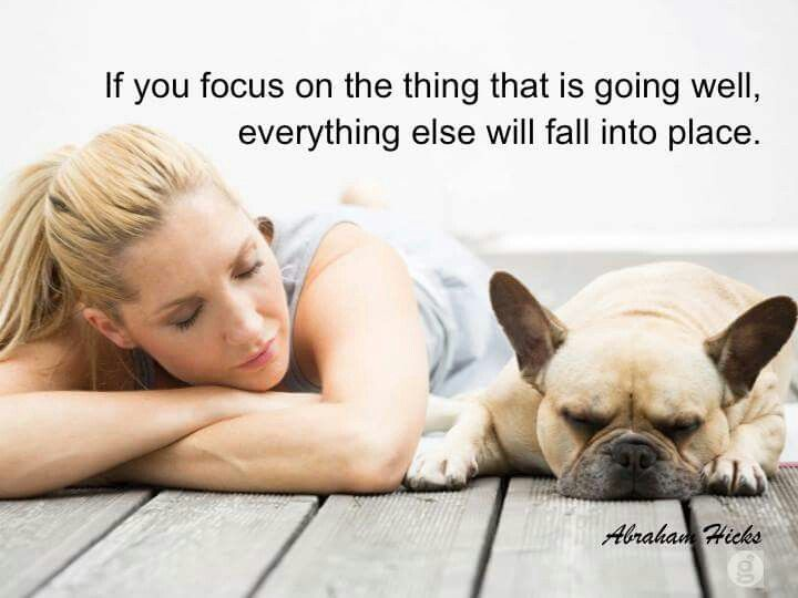 Focus on what is going well