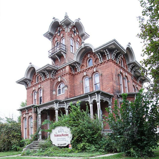 The Victorian Mansion Inn, Coldwater, Michigan - it's such a shame this beautiful home closed. My husband and I went through it when they were renevating it.