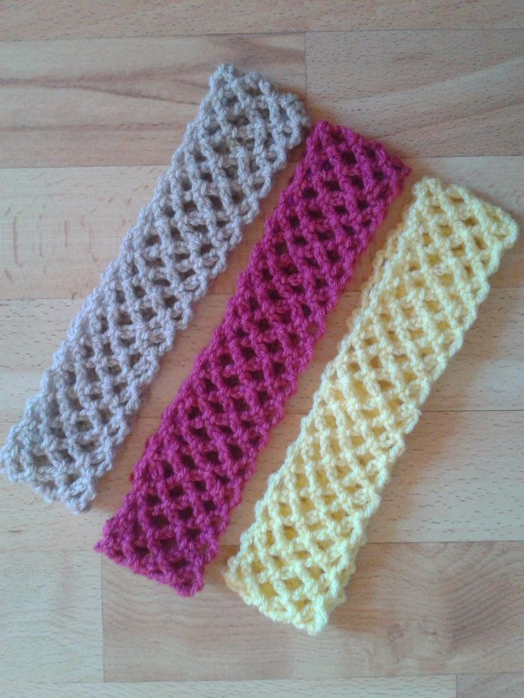 Free Crochet Pattern For Softball Headband : Bits & Bobbles : Easy Crochet Lace Headband Pattern ...
