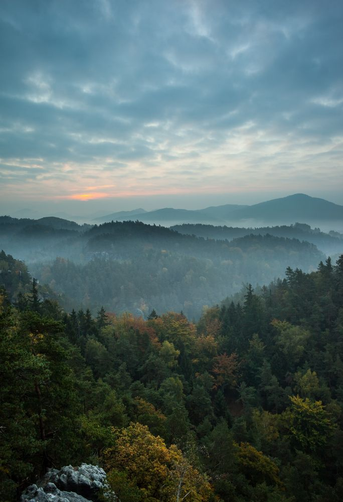 This view takes our breath away. Come visit the Great Smoky Mountains National Park.
