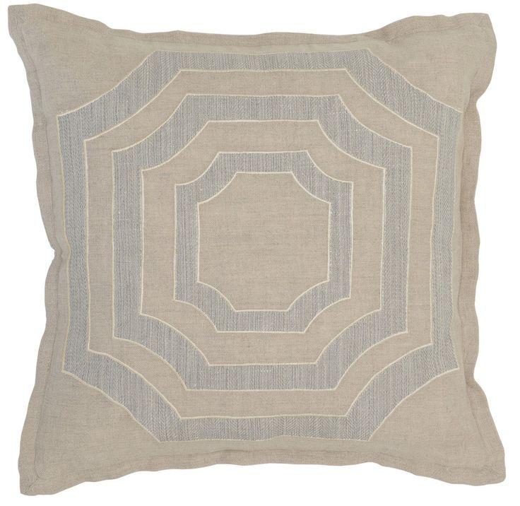 Miller Nat/Gray 18x18 Pillow design by Villa Home