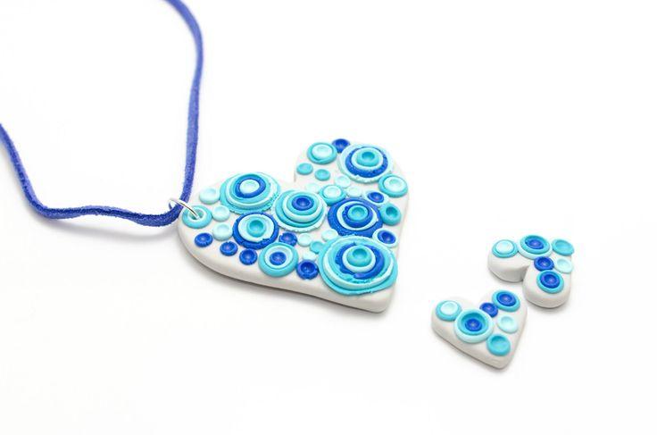 Bubbly Heart pendant - Handmade by Roxie
