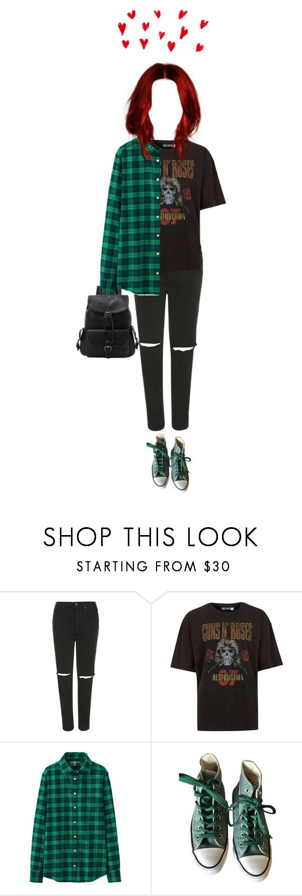 """""""39 ♡"""" by hey-how-are-you ❤ liked on Polyvore featuring Topshop, Topman, Uniqlo, Converse, Punk, rock, grunge and alternative"""