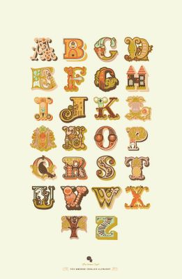 Gorgeous alphabet by Jeanie Nelson. http://jeanieandjewell.blogspot.co.uk/