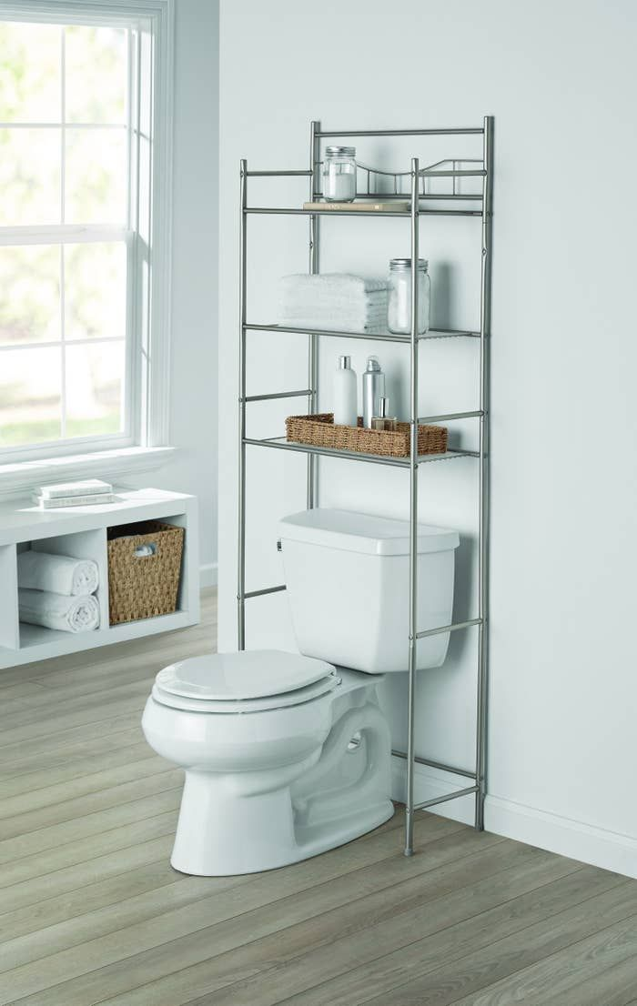 An Over The Toilet Shelf That Ll Display All Of Your Favorite Beauty Products And Hold A Bunch Of Extra Rolls Of Toilet Paper So You Re Never Stuck On The Toile In 2020 Toilet