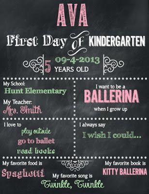 FREEBIE! FREEBIE! First Day of Kindergarten   Editable & Printable