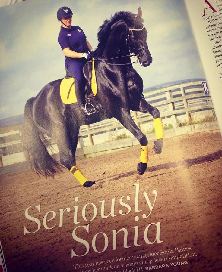 """""""Listen to your horse. They tell you a lot if you know how to listen"""" Great interview in British Dressage Magazine with Harry Hall Ambassador Sonia Baines #SeriouslySonia"""