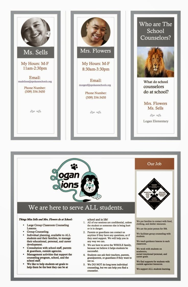 17 best images about school counseling on pinterest all for Counseling brochure templates free