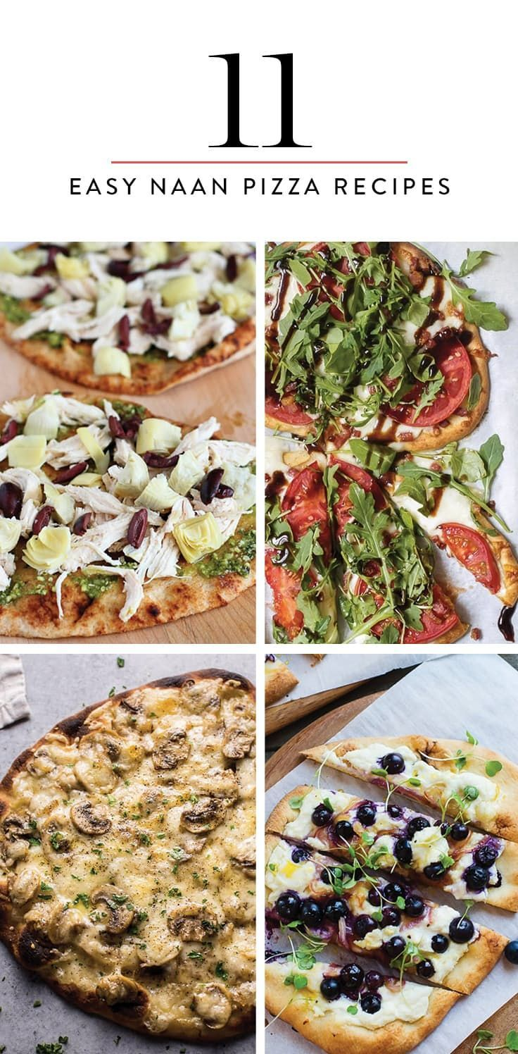 11 Easy Naan Pizza Recipes You Can Make at Home Tonight via @PureWow