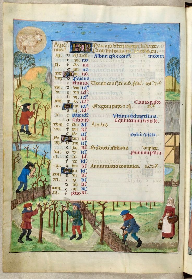 English: British Library blog See month in 2011 for specific details on the image Date	18 November 2010 Source	British Library, Additional MS 18851 calendar scenes