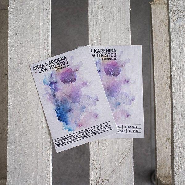 original and creative wedding cards - http://paperstory.pl/zaproszenia/8-akwarelove-zaproszenia.html
