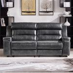 Duncan Leather Dual Reclining Loveseat
