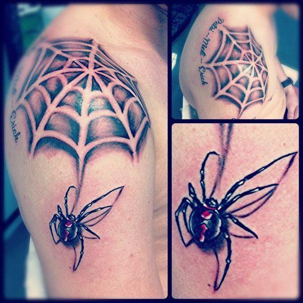 Black Widow Spider Tattoo Design Ideas January 2021 Tattoos Web Tattoo Spider Web Tattoo