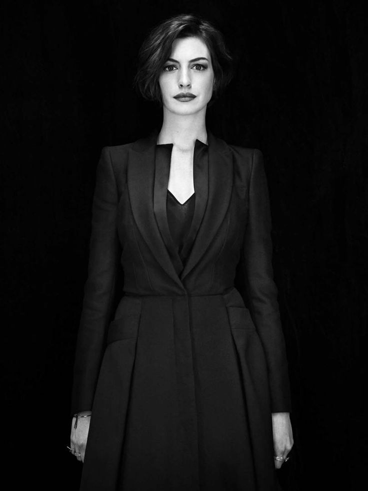 """Anne Hathaway. From """"The Art of Science."""" November 10, 2014 issue."""