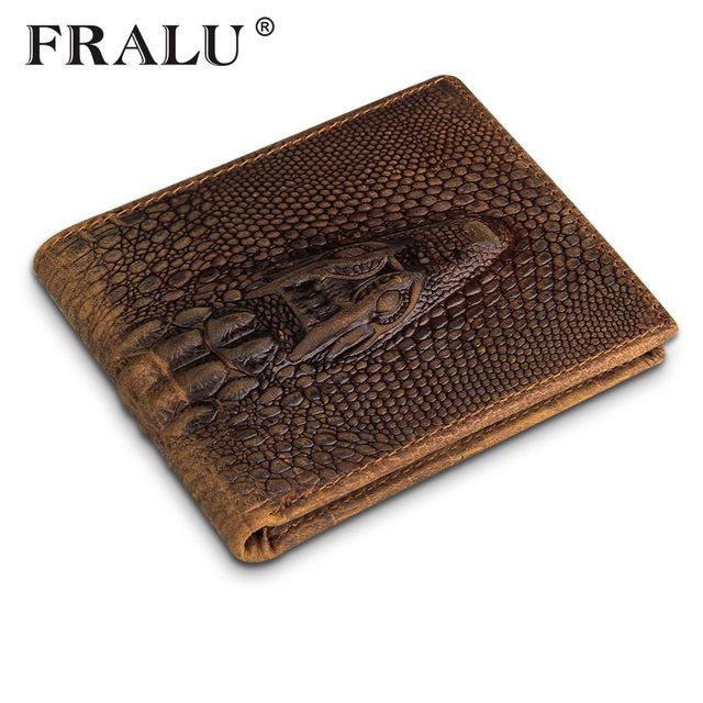 Check lastest price FRALU Vintage alligator top cow genuine leather wallets for men 2016 two style Crocodile pattern high quality free shipping just only $13.23 with free shipping worldwide  #walletsformen Plese click on picture to see our special price for you