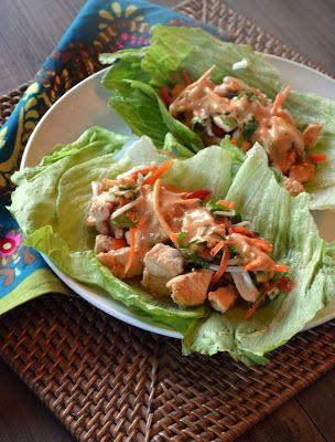 Paleo Girl's Kitchen: Thai Chicken Lettuce Cups