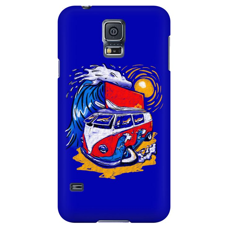 VW Surfer Dude - Galaxy S4-S5, iPhone 5-5s, 6-6s, 6plus-6s-plus case Protect your cell phone and look great with our range of styles. Designed and printed in the U.S.A. Full Wrap 3d Sublimated Phone C
