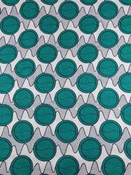 Tissu Africain réel wax imprimé 100% coton 6 yards rw3474808