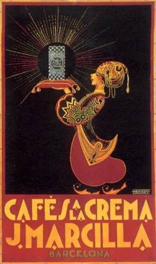Image result for vintage spanish coffee posters