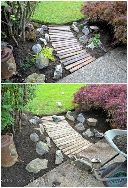 trädgård gångväg