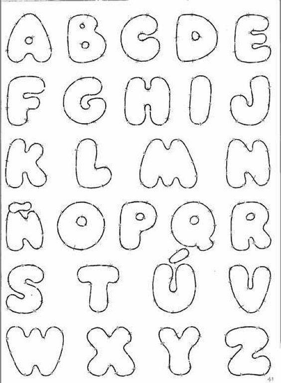 Letras en goma eva moldes - Imagui