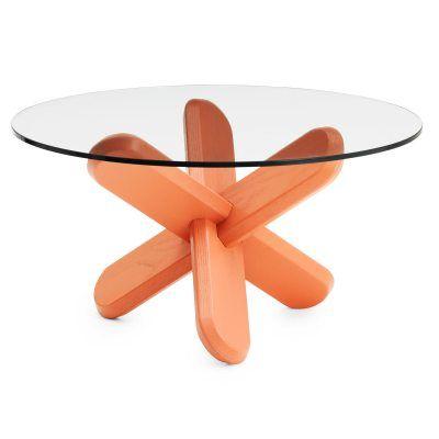 Ding soffbord, glas/korall